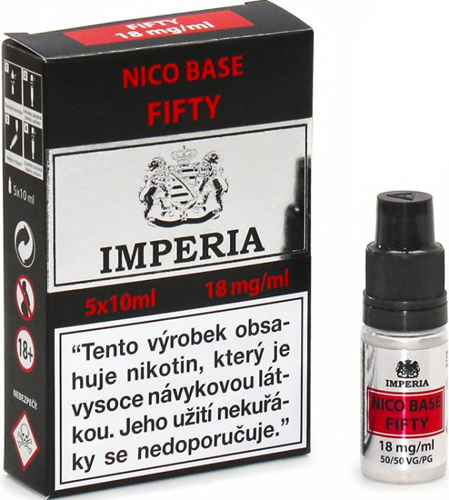 Nikotinové báze Imperia NICO BASE 50VG/50PG - 18mg 5x10ml