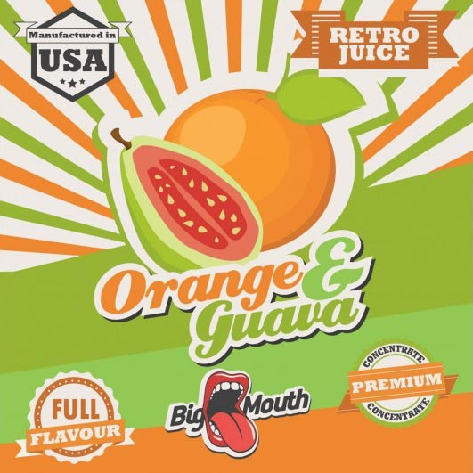 BigMouth Retro Juice Orange - Guava - 10ml