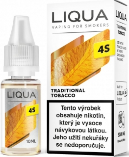 E-liquid LIQUA CZ 4S Traditional Tobacco 10ml / 20mg