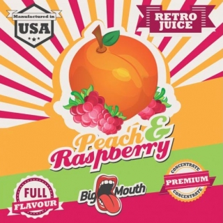 BigMouth Retro Juice - Peach - Raspberry - 10ml