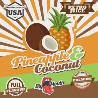 BigMouth Retro Juice - Pineapple - Coconut - 10ml