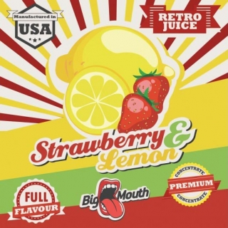BigMouth Retro Juice - Strawberry - Lemon - 10ml