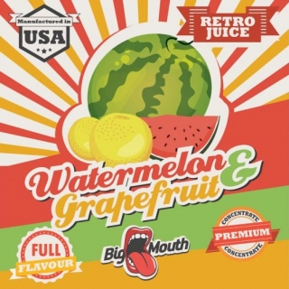 BigMouth Retro Juice Watermelon - Grapefruit - 10ml