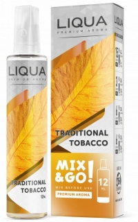 Příchuť Liqua Mix&Go Traditional Tobacco 12ml