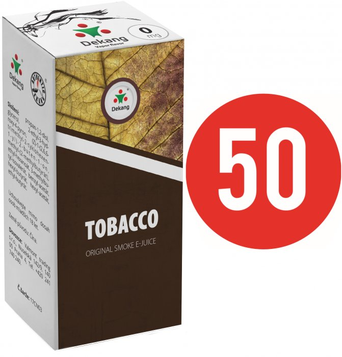 E-liquid Dekang Fifty Tobacco - 10ml