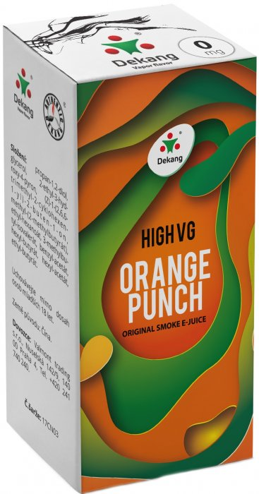 E-liquid Dekang High VG Orange Punch (Sladký pomeranč) - 10ml