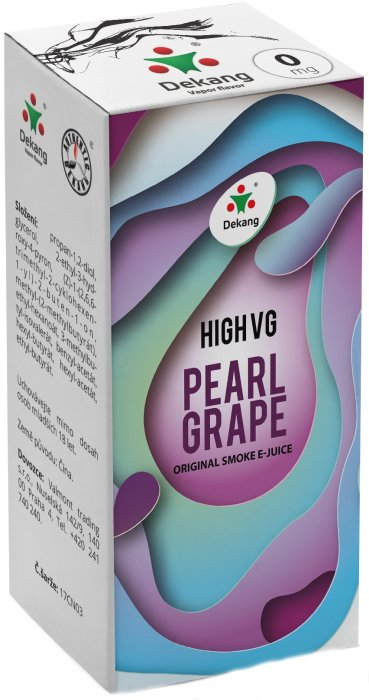 E-liquid Dekang High VG Pearl Grape (Hrozny s mátou) - 10ml