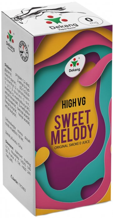 E-liquid Dekang High VG Sweet Melody (Broskev s citrónem) - 10ml
