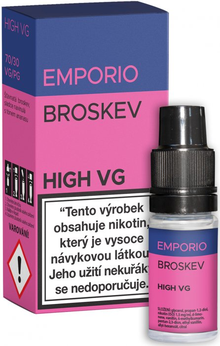 E-liquid EMPORIO High VG Broskev 10ml